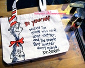 Dr Seuss Be Yourself tote bag