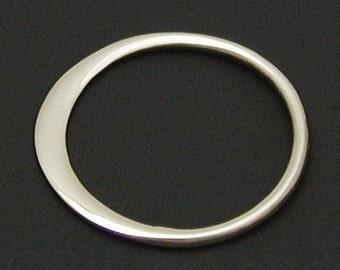 4pcs -  Small Sterling Silver Circle Link, 12 x 12 x 0.5 mm -- (SLKS2366)