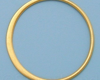 2pcs - Large Vermeil Style Circle Hammered Link, 19 x 19 x 0.5 mm -- (VLKGS2406)