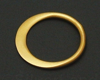 2pcs - Extra Small Vermeil Style Circle Link, 9.5 x 9.5 x 0.5 mm -- (SLKGS2365)