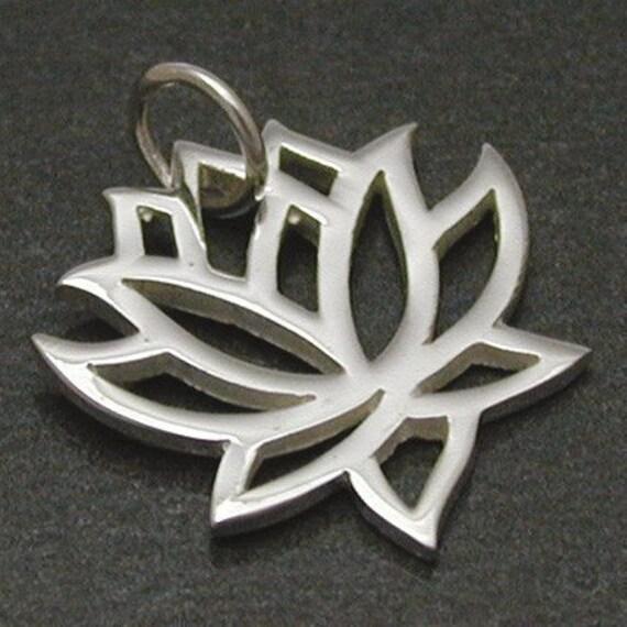 1 Sterling Silver Lotus Charm -- (SCMA558)