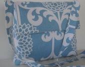 SALE Messenger Bag Blue Modern Flower