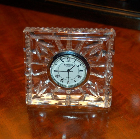 Sale Vintage Waterford Crystal Clock By Bridgetscottage On