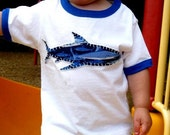 Shark Ringer Toddler Tee