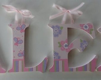 Butterfly and Flower Wall Letters