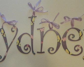Butterfly Wall Letters