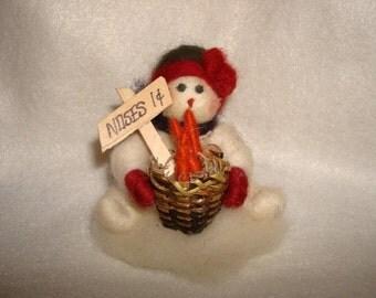 Hard-working Christmas Snowman
