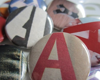 RAnSom NotE LetTeR: A (Pinback or Magnet)