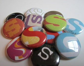 RAnSom NotE LetTeR: S (Pinback or Magnet)