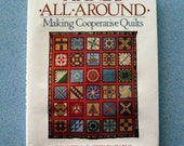 Vintage Quilt Book Hands All Around Making Cooperative Quilts Judy Robbins Illustrated