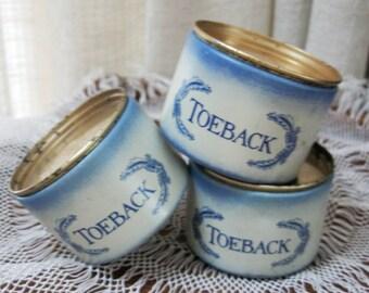 Vintage Tinker Box Smoking Tobacco Toeback Sampler Tins Three