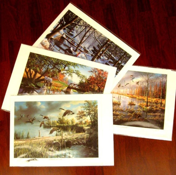Vintage Wildlife Prints Game Birds Ken Zylla Commerative North America Set of Four 1986
