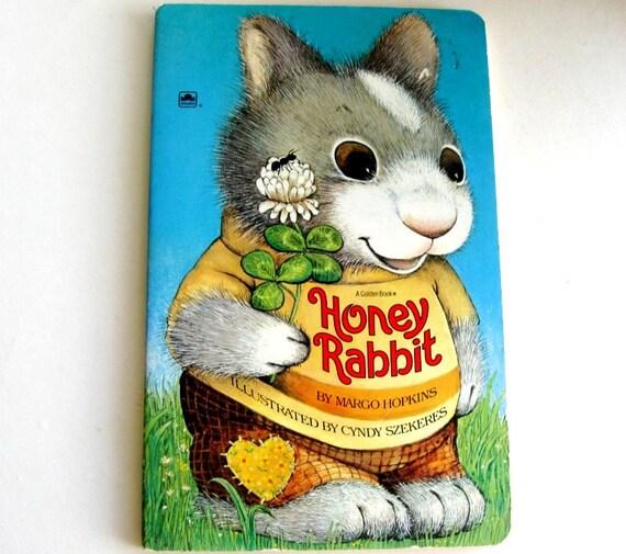 Vintage Picture Book Honey Rabbit Golden Board Book Illustrated Cyndy Szekeres
