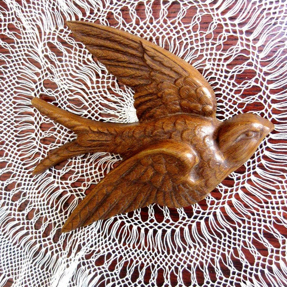 Vintage Bird Wall Hanging Burwood Products Plastic Brown 1980s