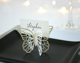 Butterfly Place Cards - Cream