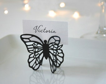 Butterfly Place Cards - Black - Set of 100