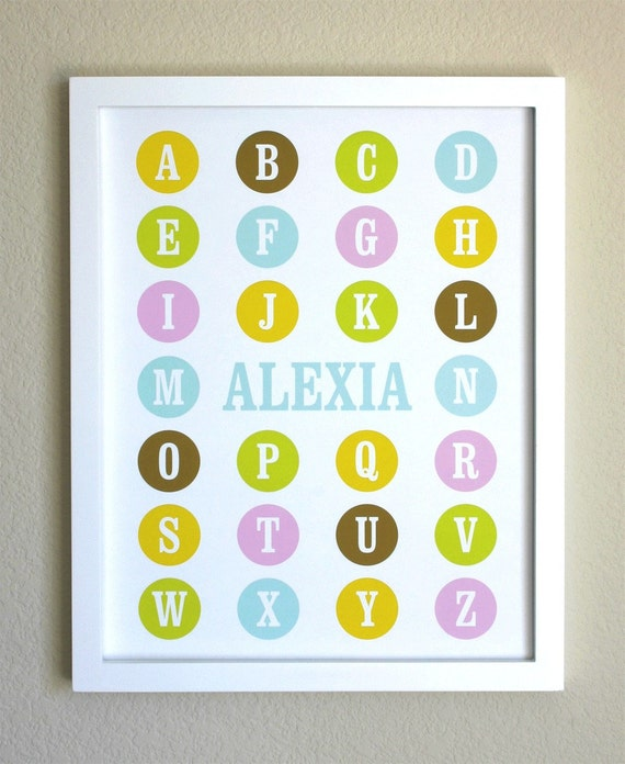 Dots Alphabet Poster With Name