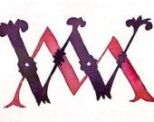 decorative custom monograms and experimental typography
