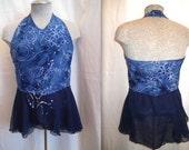 Figure Skating Dress Custom Made Child size 4-14  Halter style with Chiffon skirt