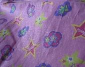 Barbie Superstar Fabric 3 yard piece  Hot Pink glitter and stars