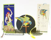 1920s Bridge Tallys Tallies, Pirate and Parrots, Helen's Colorful Vintage Paper Ephemera