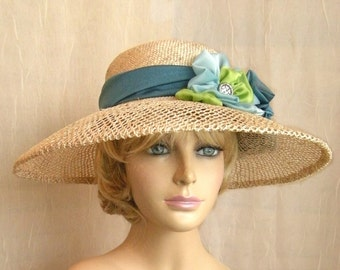 Savannah Summer Picture Hat, Kentucky Derby hat,  large brim straw hat, womens straw hat