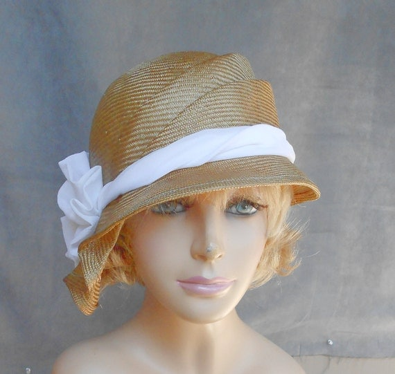 Sophia, beautiful parasisal straw hat, womens millinery hat in natural straw color
