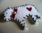 Great Pyrenees Brooch White Dog Love