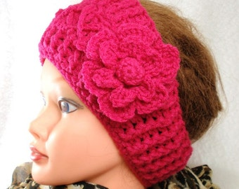 PDF - 2 Patterns  for CROCHET Earwarmer/ Headband and CROCHET flower
