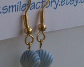 Blue Shell Dangling Earring