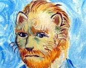 Van Gogh as a Cat - Original painting