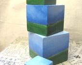 Feng Shui Portable Landscapes - Set of  4 blocks