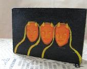Tres Diablos in Hoodies - Three devils for the witching season - original artwork on wood block
