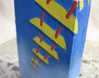 Sky Ladder - original painting on wood block
