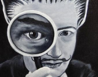 Dali Cat original acrylic painting