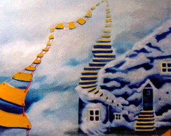The Dreaming House - 4x6 photo print of original painting
