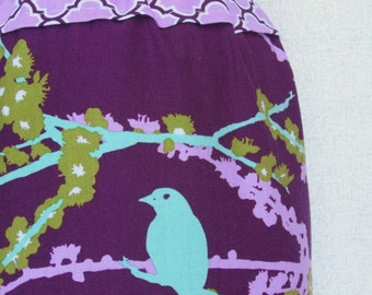 Ready to Ship! Baby Carrier Stuff Sack - Fits the ERGOBaby, Boba, TULA, Kinderpack, Moby and More - Sparrows in Lilac