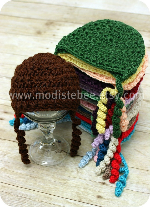 Simplify Collection in Chocolate / Crochet Beanie hat  Newborn photography prop