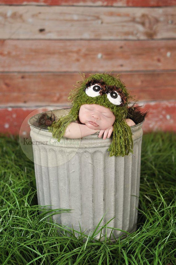 RESERVED for Krista S.   Grouch Tassel Hat Newborn photography prop