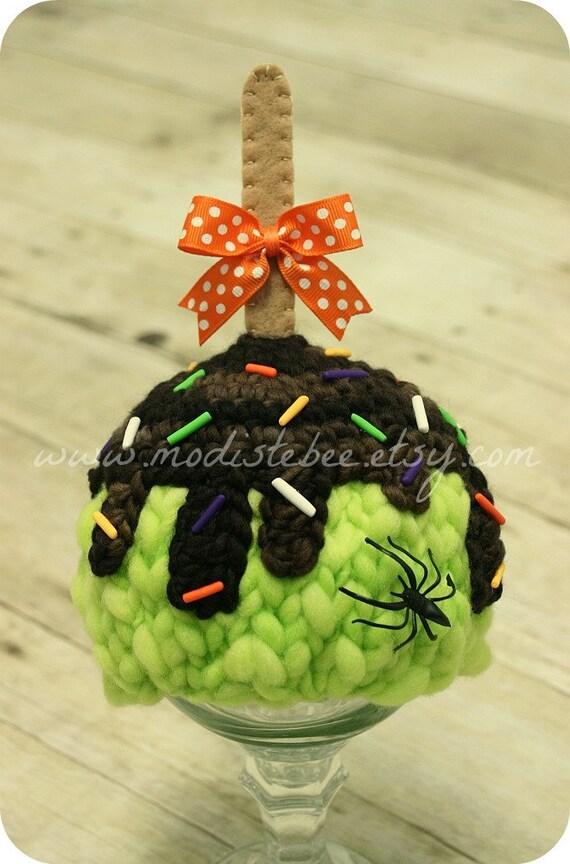 Halloween Candy Apple Hat  newborn photo prop