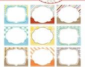 Digital border for card making, premade-photo frame, tag, frame 4 instant download clip art