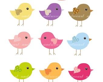 Birds clip art, bird clipart,Digital clip art for all use, Birds , instant download clip art