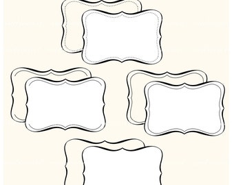 Digital clip art, FRAME 4, border ,premade frame , instant download