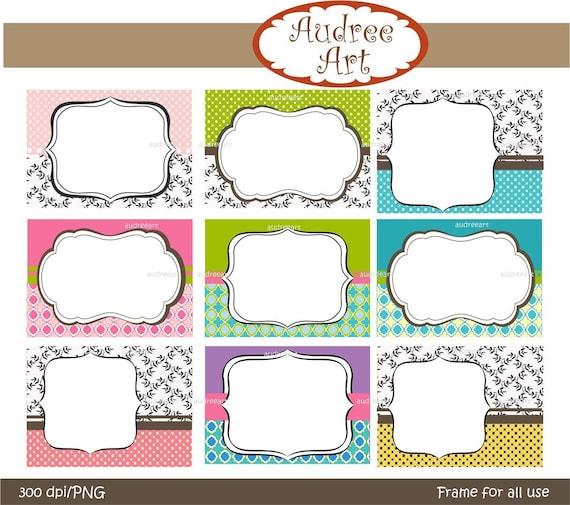 instant download clip art  , Digital border for card making, premade-photo frame, tag, frame 3 ,