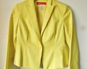ON SALE Vintage Anne Klien Yellow Blazer
