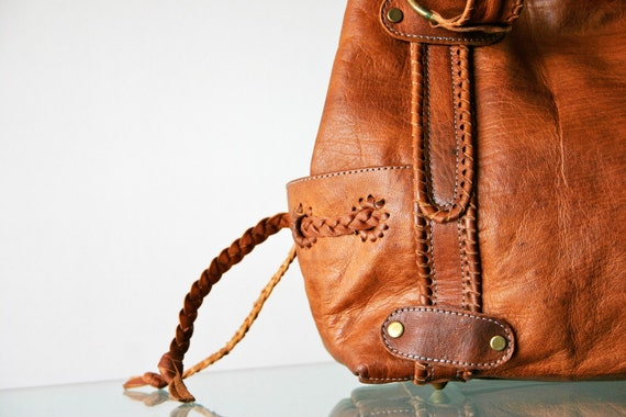 c a r m e n  -  Hand Stitched Artisan Leather Bag -Reserved Item for J.E-