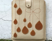 Leather iPad Case in Honey and Beige