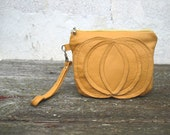 Honey Gold Bag Yellow Leather Purse Pumpkin Wristlet Fall Accessories September Trends