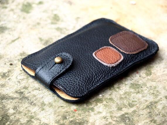 Black Leather iPhone Case Dude Guys Men Dad Unisex Rustic Earth Tones