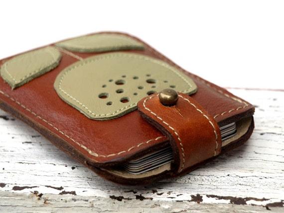 business card case, slim wallet, leather Card case, Business card holder, pocket wallet, gift guide for her, gift idea for her